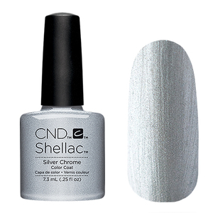 Гель лак CND SHELLAC Silver chrome фото 2