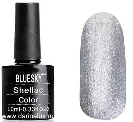 Шеллак Bluesky shellac Space Silver 10мл фото 2